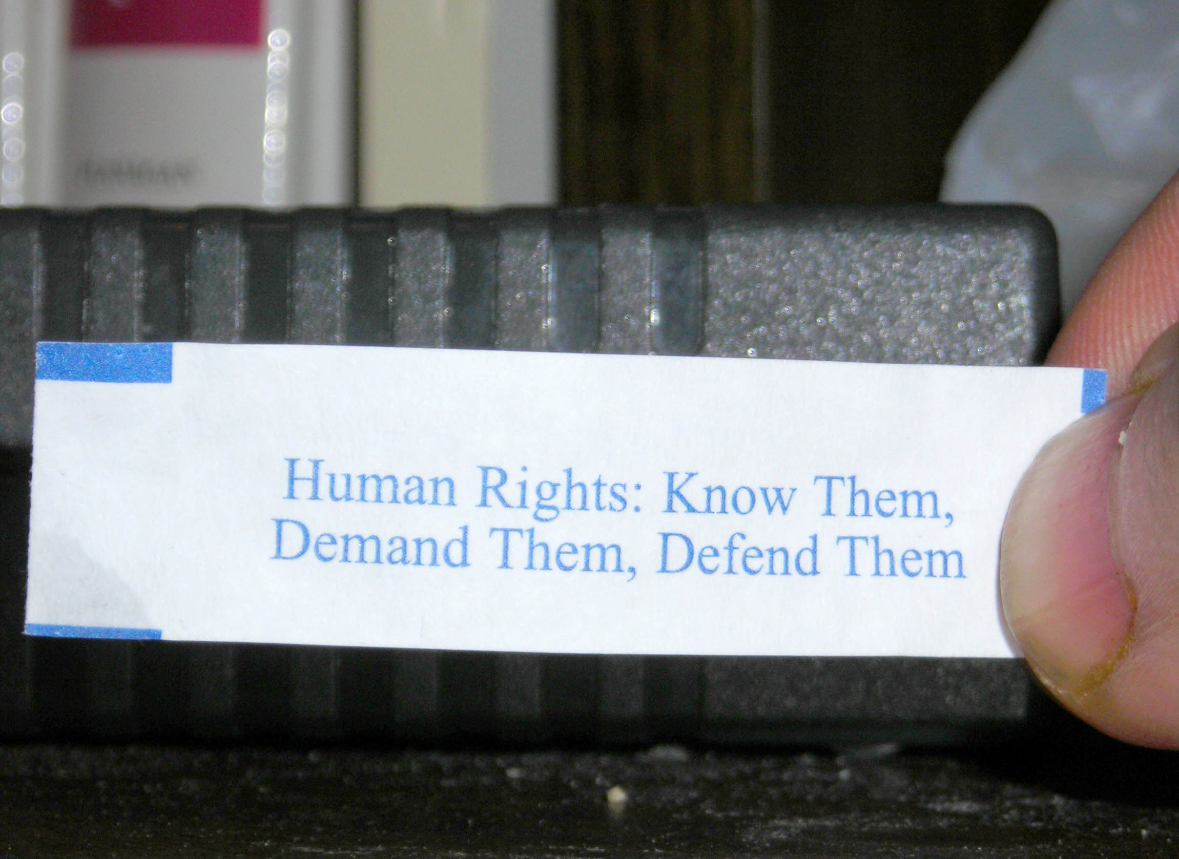 Fortune Cookies for Human Rights